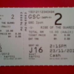 Photo taken at Golden Screen Cinemas (GSC) by Umy U. on 11/23/2012