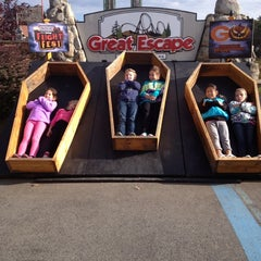 Photo taken at The Great Escape & Splashwater Kingdom by Kariann W. on 10/13/2012