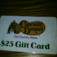 Photo taken at Cracker Barrel Old Country Store by Kiwi on 4/2/2013