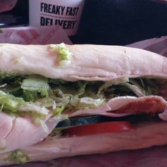 Photo taken at Jimmy John's by Erica B. on 4/17/2014