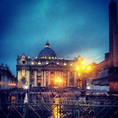 Photo taken at Piazza San Pietro by Francesco C. on 3/30/2013