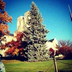 Photo taken at Burruss Hall by Dave P. on 10/25/2012