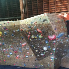 Photo taken at Red Barn Climbing Gym by Paul S. on 10/1/2015