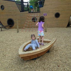 Photo taken at Pirate Ship Playground by JC L. on 6/7/2013