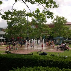 Photo taken at Town Square Fountain by Carrie C. on 6/3/2014