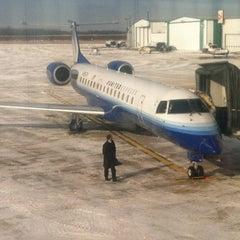 Photo taken at Austin Straubel International Airport (GRB) by Aaron C. on 1/26/2013