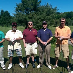 Photo taken at Newton Commonwealth Golf Course by Eric V F. on 6/1/2014