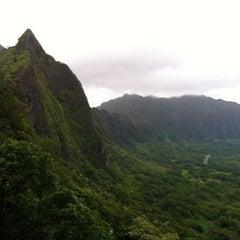 Photo taken at Nuʻuanu Pali Lookout by Christina K. on 4/14/2013