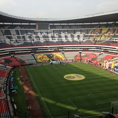 Photo taken at Estadio Azteca by Juan Pablo A. on 11/9/2013