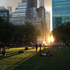 Photo taken at Bryant Park by Caleb L. on 6/12/2013