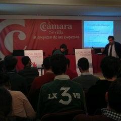 Photo taken at Escuela de Negocios Cámara Sevilla by Sara de la Peña P. on 12/3/2012