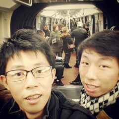 Photo taken at Métro Carrefour Pleyel [13] by Elijah Ross T. on 12/30/2013