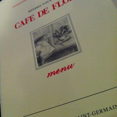 Photo taken at Café de Flore by Alex A. on 12/28/2012