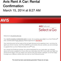 Photo taken at Avis Car Rental by Sam S. on 3/15/2014