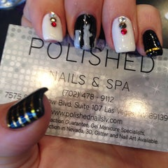 Photo taken at Polished Nails & Spa by Katie K. on 3/22/2014