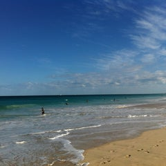 Photo taken at Scarborough Beach by Michelle S. on 3/16/2013