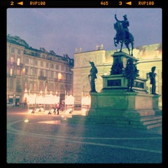 Photo taken at Piazza Carlo Alberto by Silvia C. on 4/26/2013
