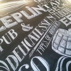 Photo taken at Zeplin Pub & Delicatessen by Gökhan O. on 5/25/2013