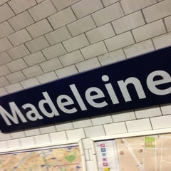 Photo taken at Métro Madeleine [8,12,14] by John W. on 6/25/2013