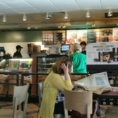 Photo taken at Einstein Bros Bagels by Clarissa G. on 4/18/2015