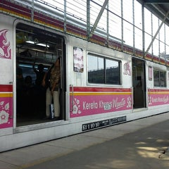 Photo taken at Stasiun Depok Baru by Sri P. on 9/13/2013