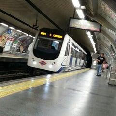 Photo taken at Metro Banco de España by Gerard T. on 6/27/2015