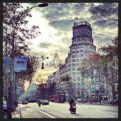 Photo taken at Passeig de Gràcia by Pere P. on 12/13/2012