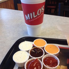 Photo taken at Milo's Hamburgers by Jasmine L. on 11/9/2013