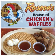 Photo taken at Roscoe's House of Chicken and Waffles by Ruth M. on 5/18/2013