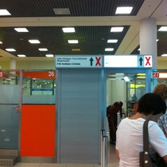 Photo taken at Паспортный контроль / Passport Control (E) by Aisa D. on 8/11/2013