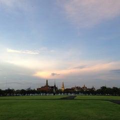 Photo taken at สนามหลวง (Sanam Luang) by Pat R. on 11/17/2012
