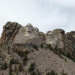 Photo taken at Mount Rushmore National Memorial by ǝʌǝʇs  ʞ. on 4/29/2013