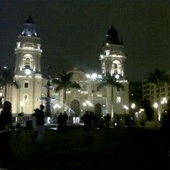 Photo taken at Plaza Mayor de Lima by Meliza S. on 10/21/2012