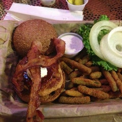 Photo taken at Twisted Root Burger Company by Lucky M. on 1/28/2013