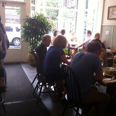 Photo taken at Peacefood Cafe by Kristi E. on 7/25/2011