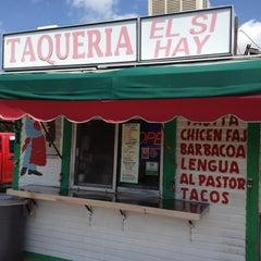 Photo taken at Taqueria El Si Hay by Bill C. on 5/19/2012