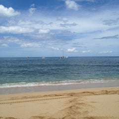 Photo taken at Makaha Beach Park by Anita O. on 6/10/2013