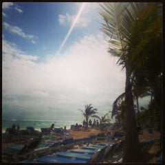 Photo taken at Riu Palace's Beach by Bruno F. on 2/21/2013