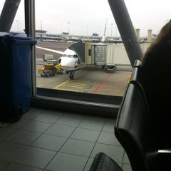 Photo taken at Gate D10 by Fatih T. on 2/28/2013