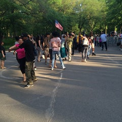 Photo taken at Central Park Dance Skaters Association (CPDSA) — Free Roller Skating Rink by Tremaine A. on 5/25/2014