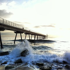 Photo taken at Pont del Petroli by Diego F. on 1/17/2013