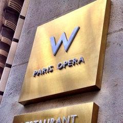 Photo taken at W Paris – Opéra by Carlos M. on 10/2/2012