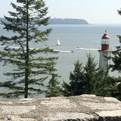 Photo taken at Point Atkinson Lighthouse by Mk P. on 6/1/2014