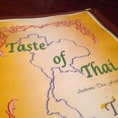 Photo taken at Taste of Thai by James on 11/9/2012