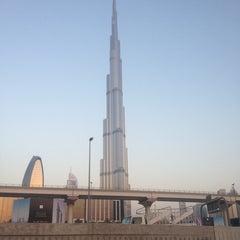 Photo taken at Burj Khalifa / Dubai Mall Metro Station محطة مترو برج خليفة / دبي مول by Antonio A. on 6/27/2013
