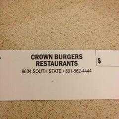 Photo taken at Crown Burger by Sharlene C. on 9/19/2013