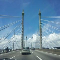Photo taken at Penang Bridge by Liz K. on 6/1/2013