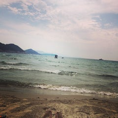 Photo taken at Sunj Lopud Beach by Pave M. on 6/14/2015