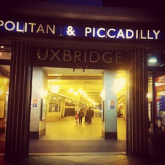 Photo taken at Uxbridge London Underground Station by Brigid H. on 3/24/2013