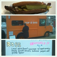 Photo taken at Top Dog Food Truck by Zach H. on 3/1/2013